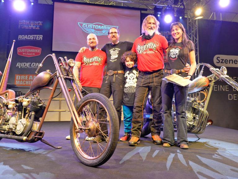 Foto der Teilnehmer des European Biker-Build-Offs 2019