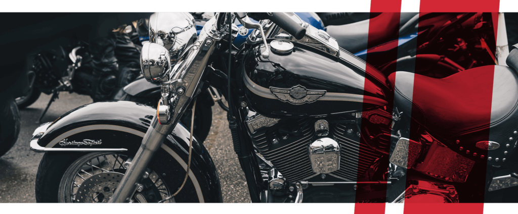 Stilisiertes Detailfoto Motorrad
